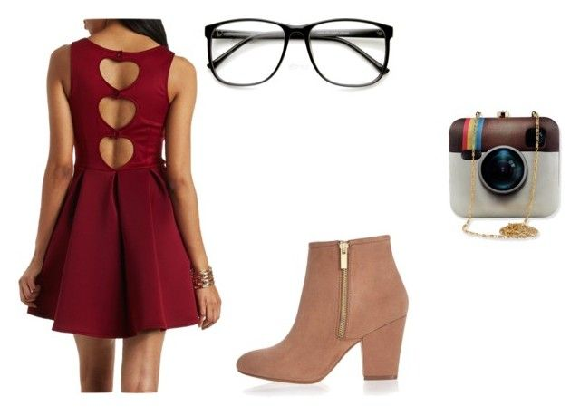 """""""Geek chick"""" by broadway-blogger ❤ liked on Polyvore featuring Charlotte Russe, River Island, women's clothing, women, female, woman, misses and juniors"""