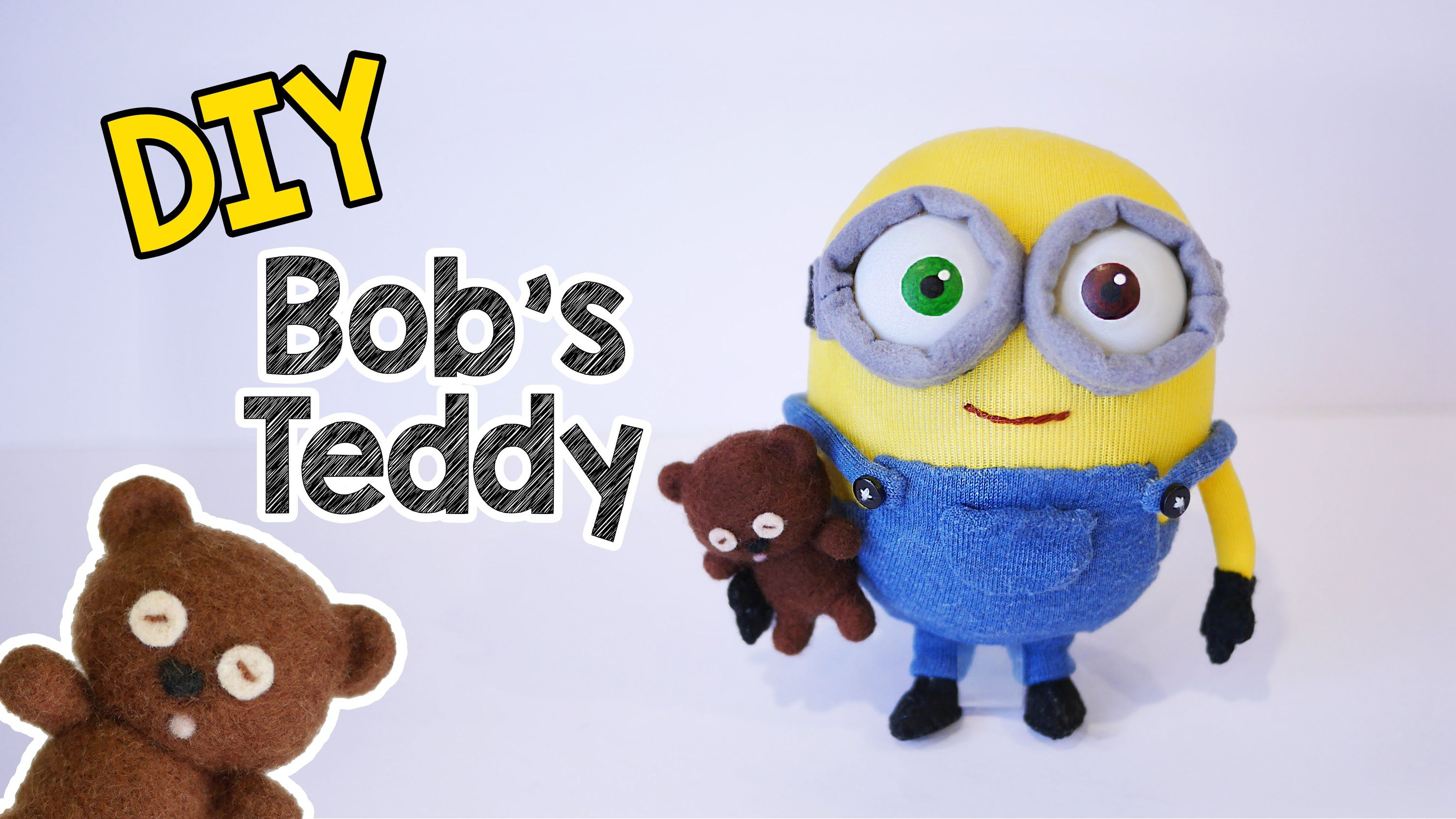 diy minion bob s teddy bear tim needle felting tutorial needle