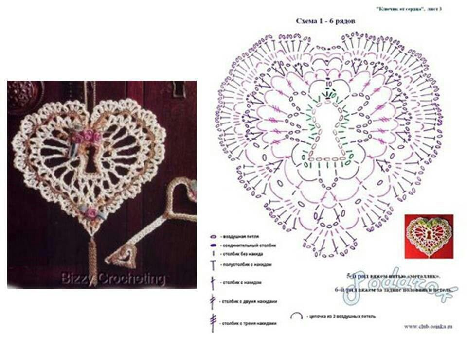 crochet #pattern #patron #unit #heart | craft - christmas crochet ...