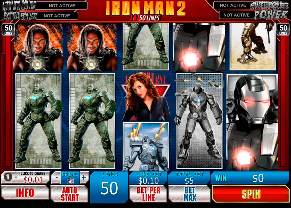 Progressiivinen kasino peli verkossa Iron Man 2 50 Lines kolikkopeli nettipeli raha - tämä on hyvä kone 5 kiekkoa ja 35 voittoyhdistelmiä. Helmikuu 2011 johtava kasino-ohjelmistojen kehittäjä Playtech julkaisi toisen muunnelma suosittu peli Iron Man 2. Muuten sinä voit myös kokeilla pelata Iron Man 2 50 lines.