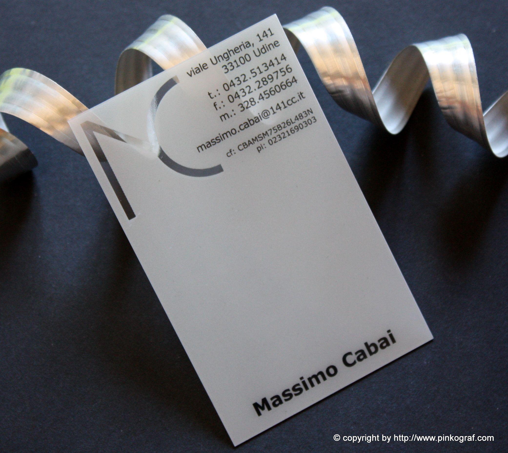 clear plastic business cards - biglietti da visita architetto PVC ...