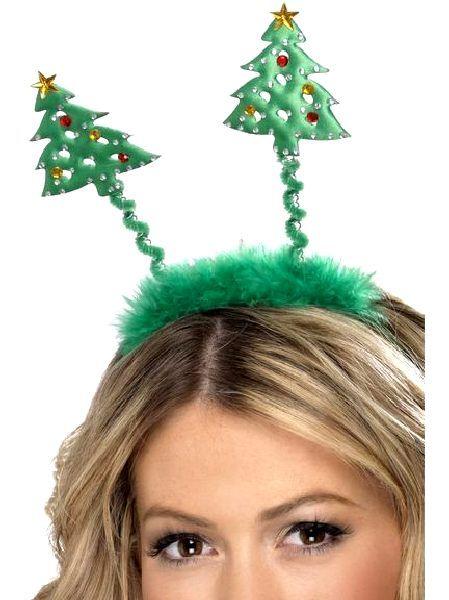 Christmas Tree Headbopper With Fur Trim Novelties Parties Direct Ltd Christmas Tree Headband Holiday Headbands Christmas Hair Accessories