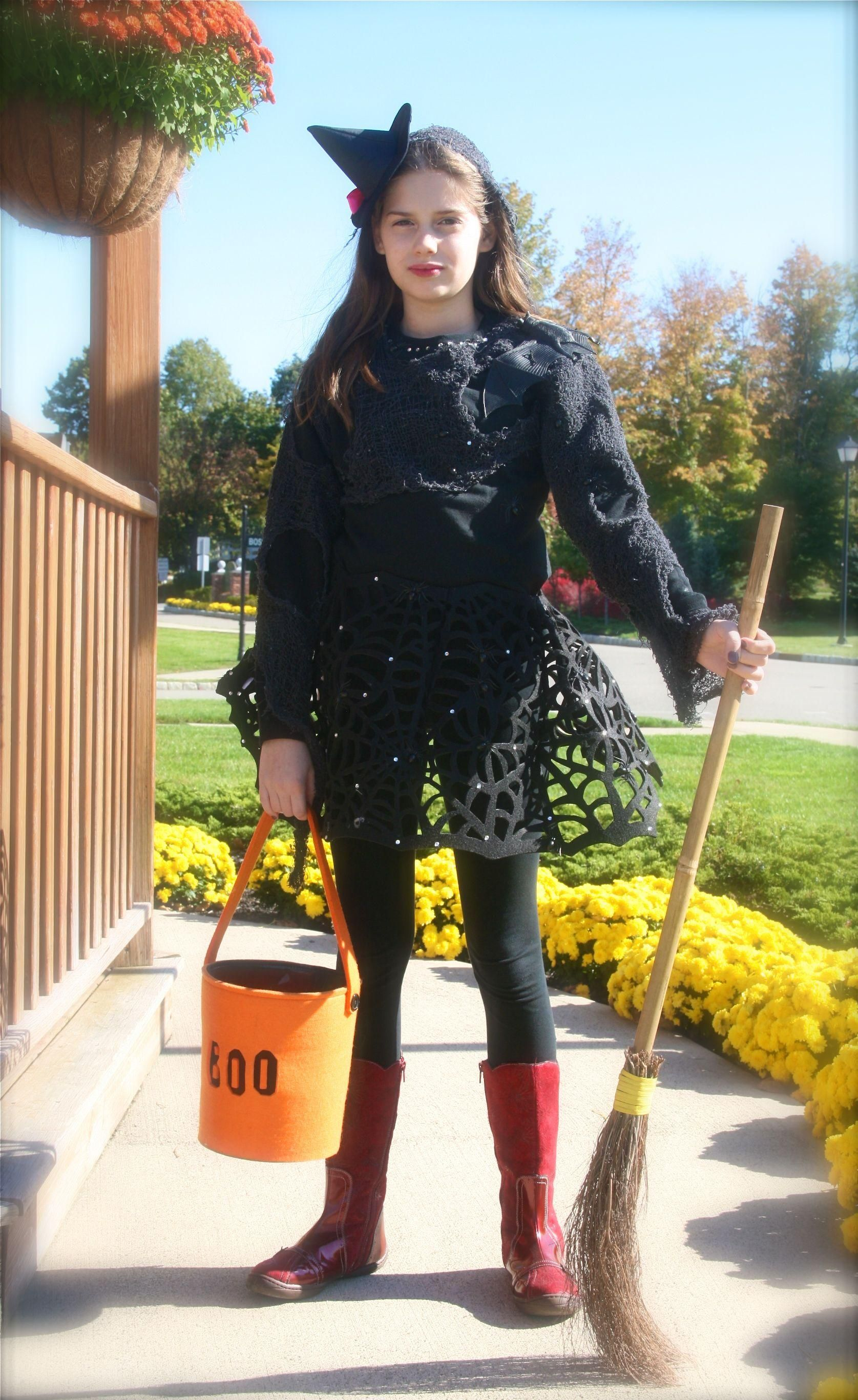 diy halloween costumes diy halloween diy trendy witch costume for tween teen girls diy. Black Bedroom Furniture Sets. Home Design Ideas