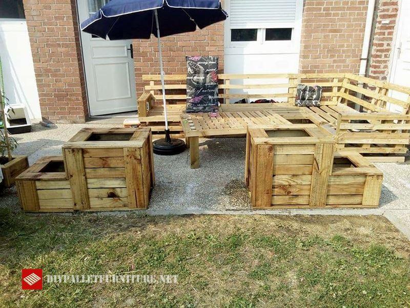 Canapé du0027angle et planteurs pour votre jardin Planters, Pallet - salon d angle de jardin