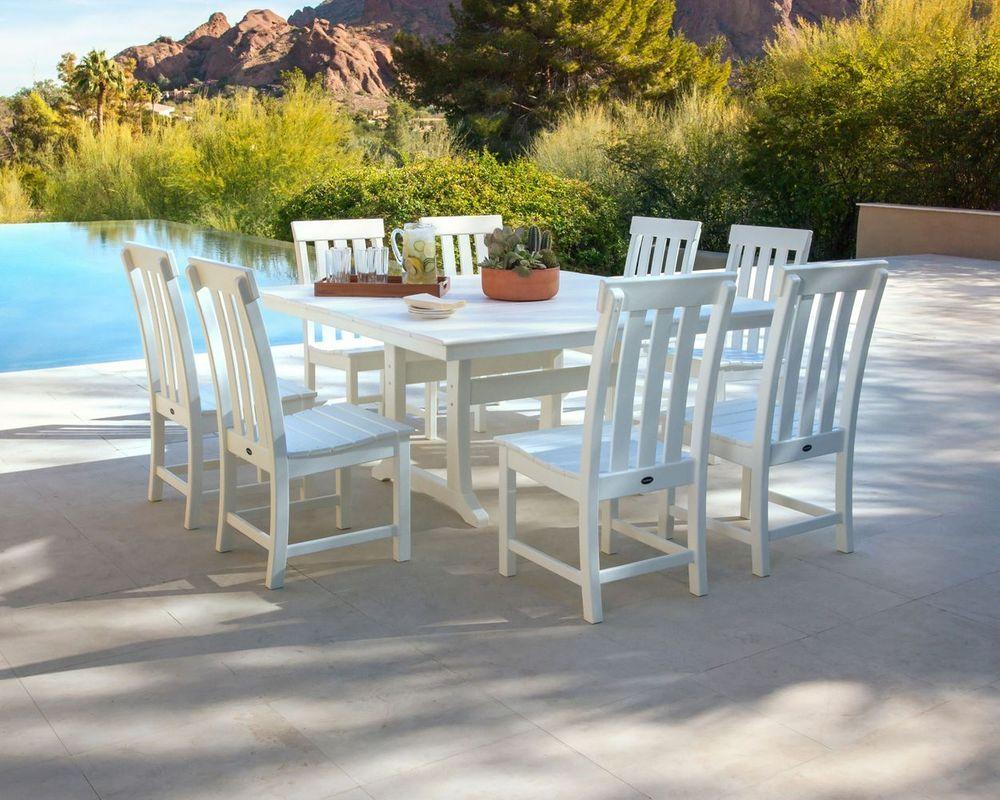 Prescott 9 Piece Dining Set Polywood Outdoor Furniture Patio