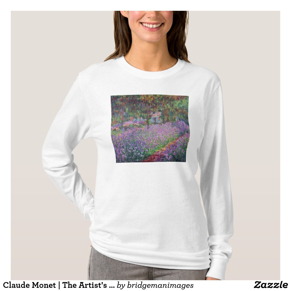 Claude the artists garden at giverny tshirt