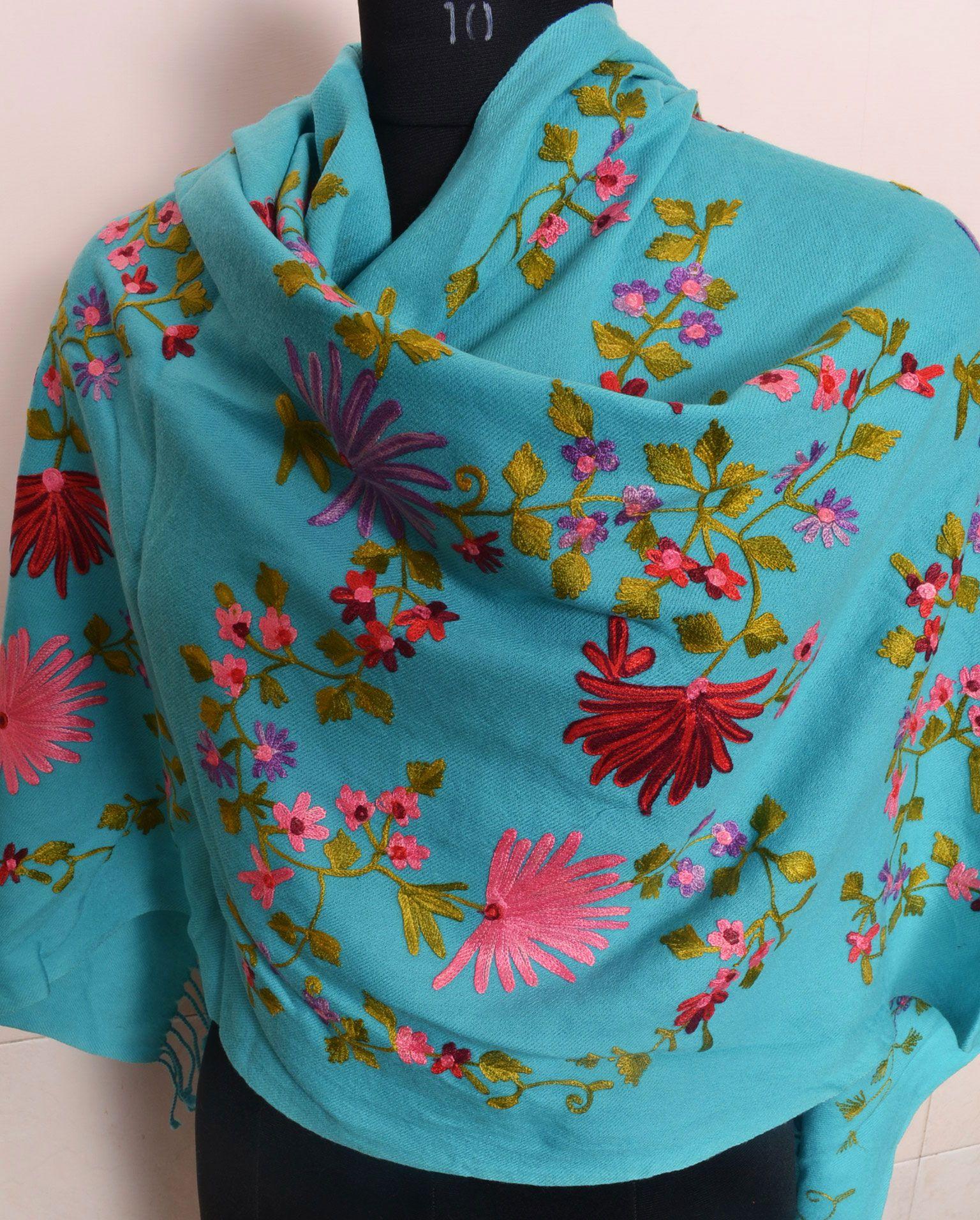Kashmiri Embroidered Cashmere Shawl Cashmere Shawl Hemp Clothing Hemp Bag
