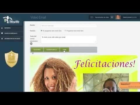Email con Video Profesional y en español, compatible con todos los dispositivos móviles inteligentes, prueba gratuita en el siguiente enlace: http://emailconvideo.iwowwe.com/free
