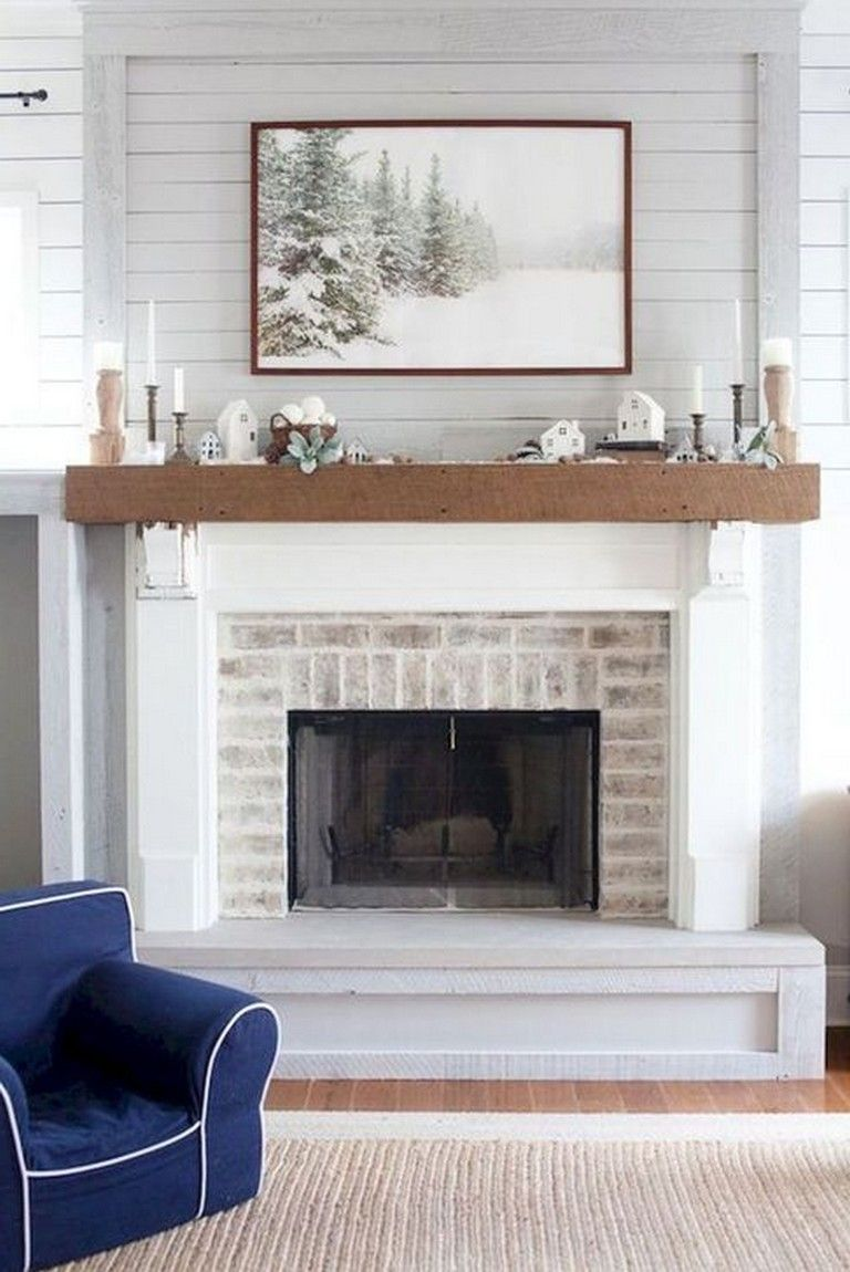 48 Best Rustic Farmhouse Fireplace Ideas For Your Living
