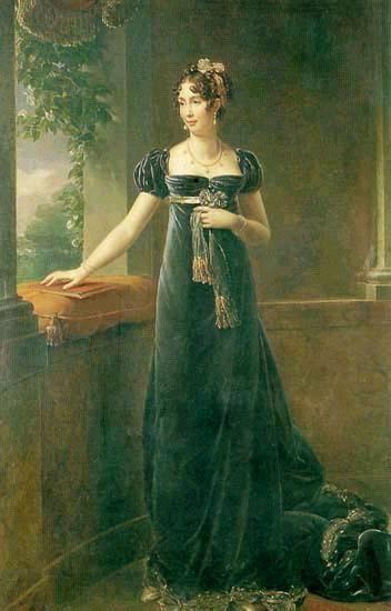 Auguste-Amalie de Baviere by Francois Pascal Simon Gerard, ca 1815, Versailles