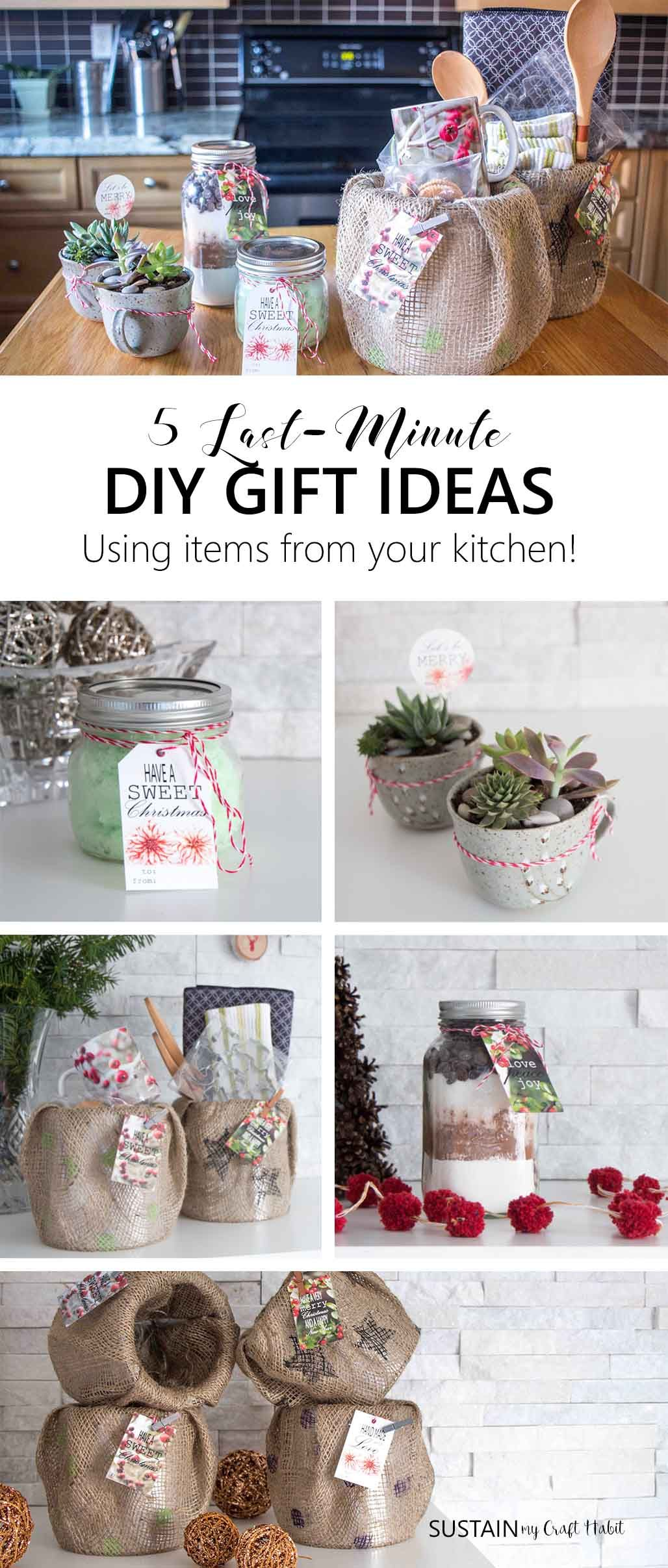 83f5acde52ed Thoughtful gift-giving doesn t need to break the bank. Take a look in your  own kitchen for supplies to make any of these quick and easy handmade gift  ideas.