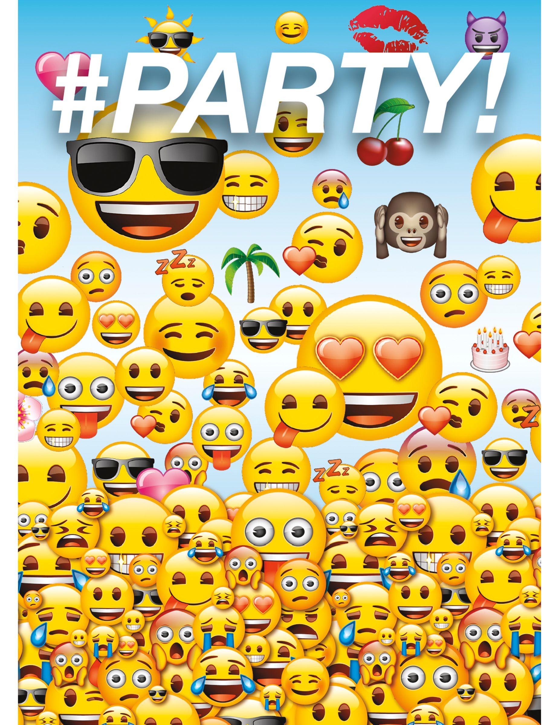 8 Tarjetas De Invitación Emoji Invitaciones Emojis