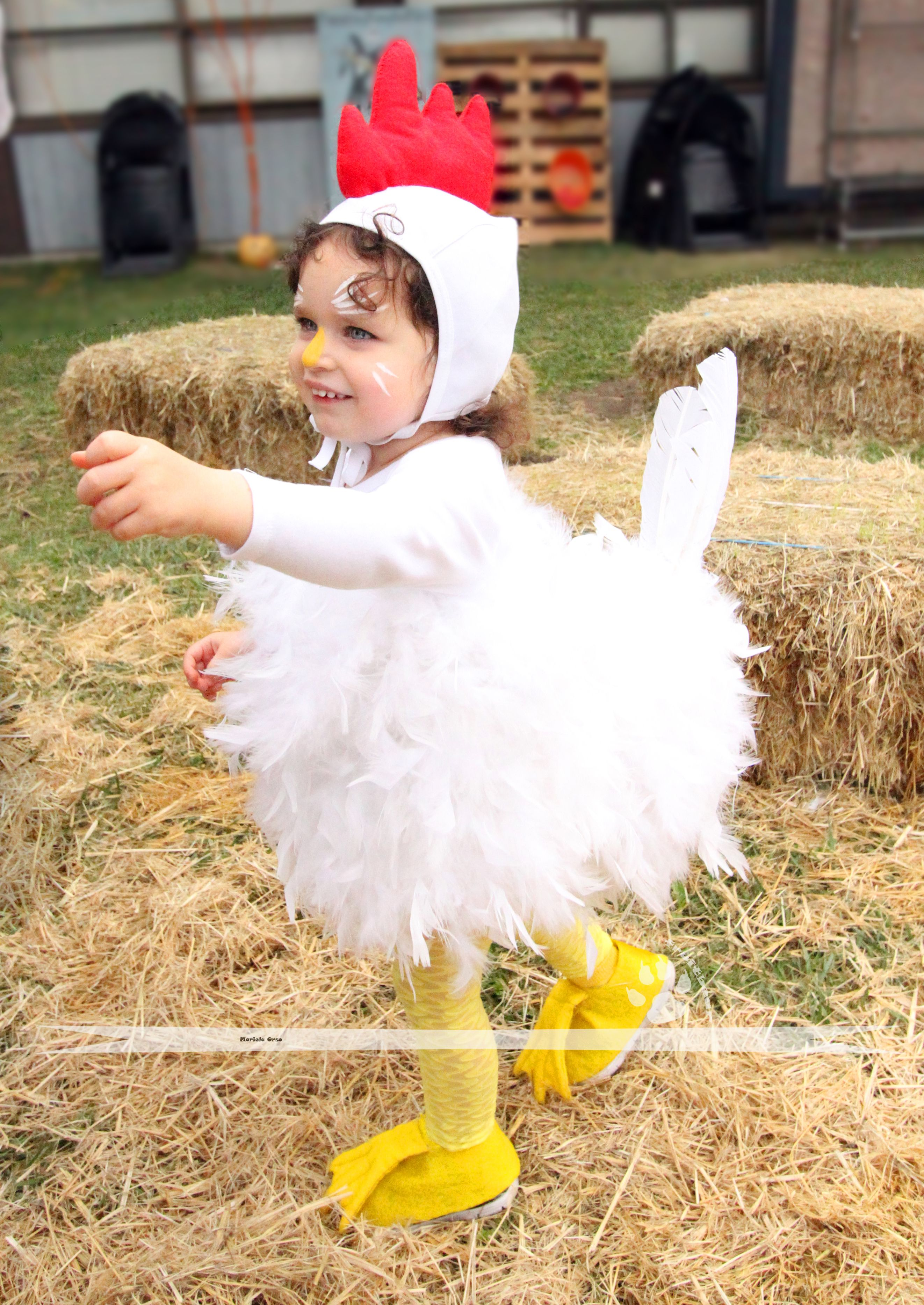 SUPER CUTE! Toddler or baby funny chicken costume (chikin or rooster ...