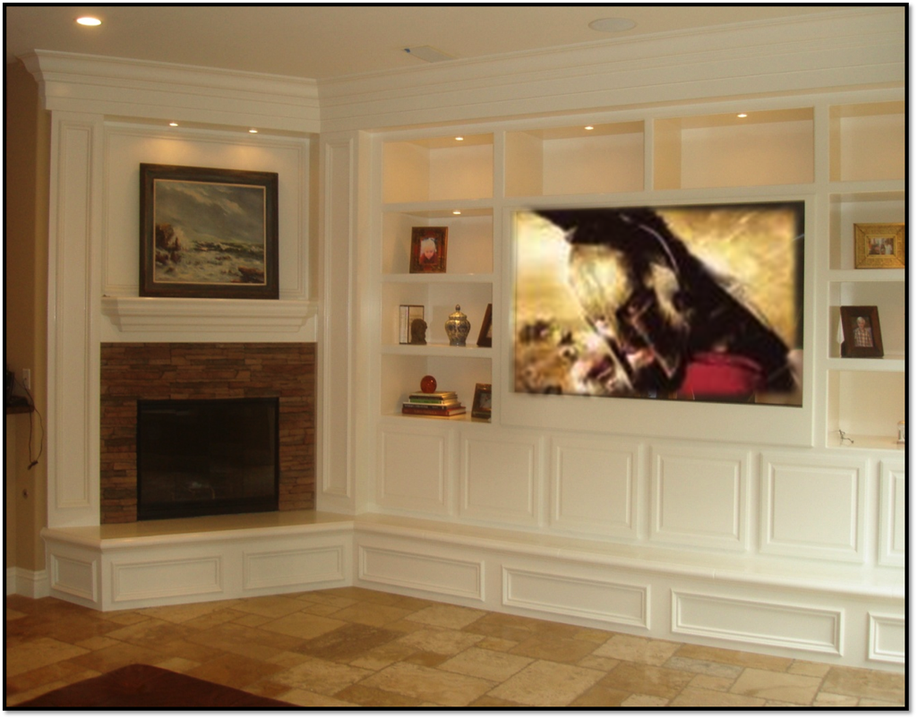 Built In Entertainment Centers Fireplace Entertainment