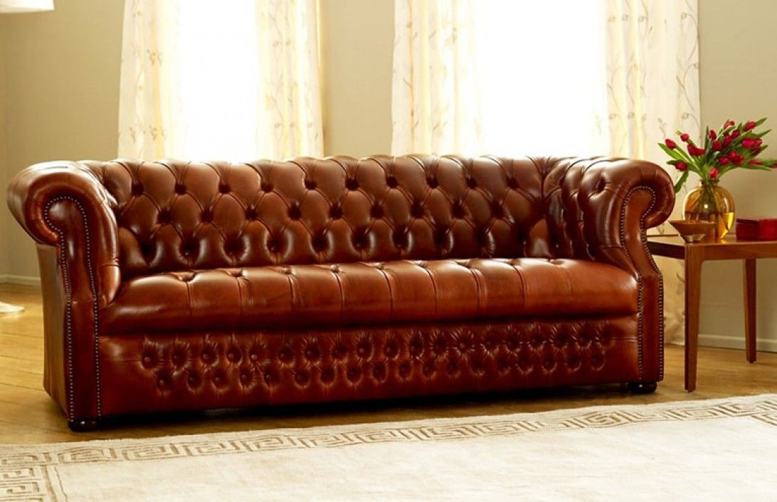 Ordinaire Brown Leather Chesterfield Sofa