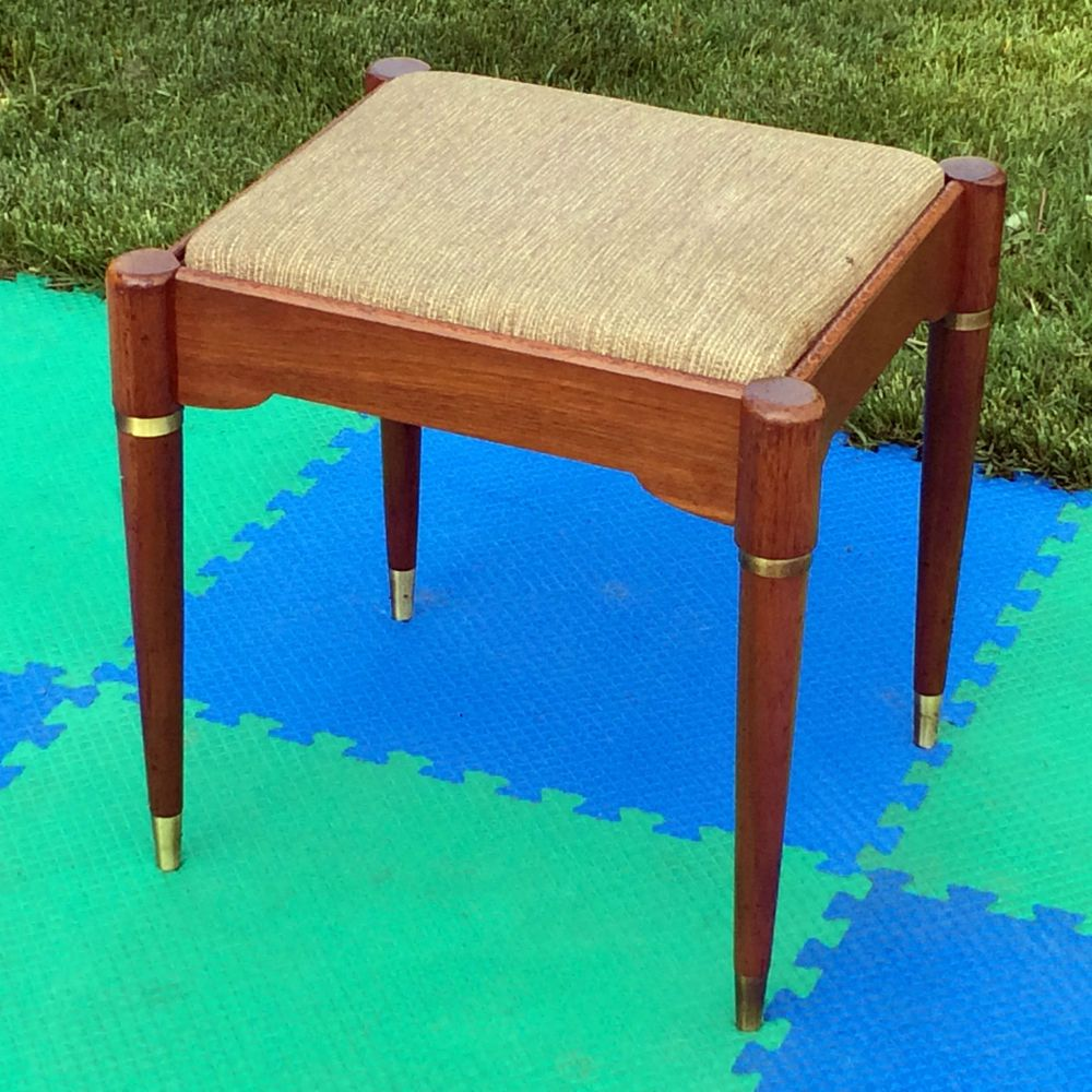 Antique sewing chair - Vintage Singer Sewing Machine Cabinet Bench Stool Chair Seat Storage Mid Century