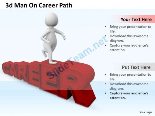 1013 3d man on career path ppt graphics icons powerpoint powerpoint