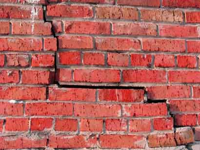 Cracked Bricks In Ohio You Might Need Foundation Repair Http Www Foreverfoundationrepair Com Foundation Repair Brick Repair Basement Repair