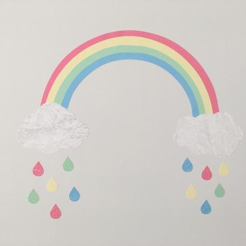 Best Rainbow Wall Sticker Rainbow Decal Pastel Rainbow Girls 400 x 300