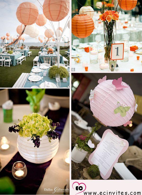 creative paper lantern wedding centerpieces 41 Chic