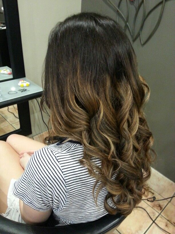 What my hair looked liked, loved it. But other people werent to keen. I'm a dark brown kinda girl #dark #brown #hair #curls #balayage #blonde #highlights #hairstyle #hair #cut