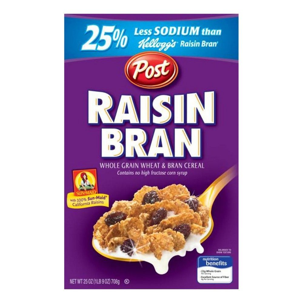 Raisin Bran Breakfast Cereal - 25oz - Post