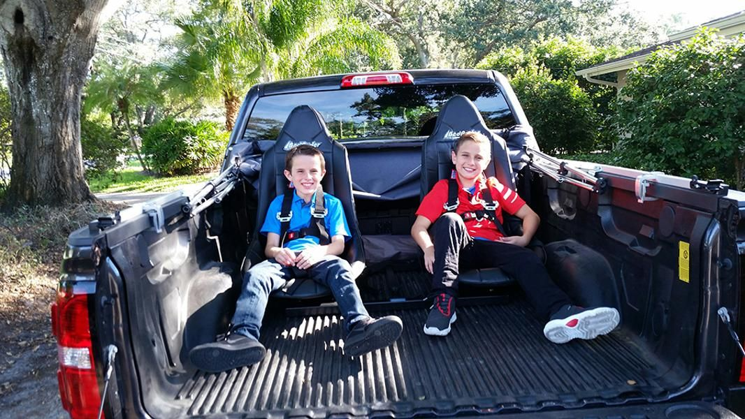 Removable Truck Bed Seating From Bedryder Truck Bed Trucks Drive In Movie