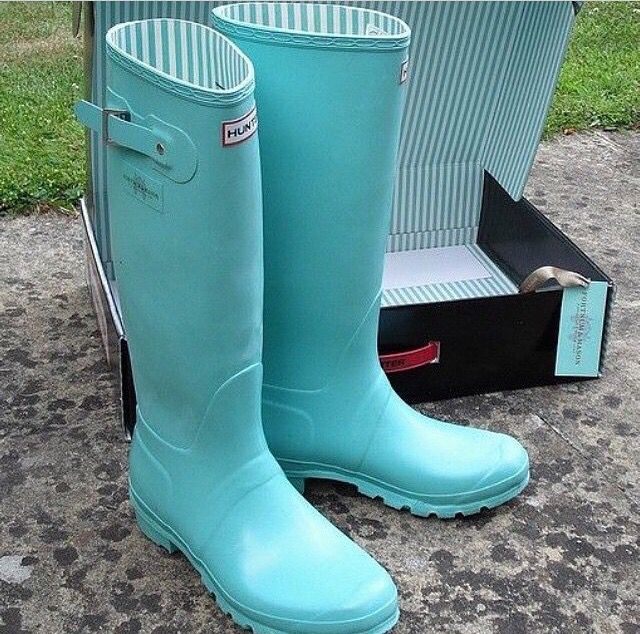 Light blue / turquoise Hunter boots