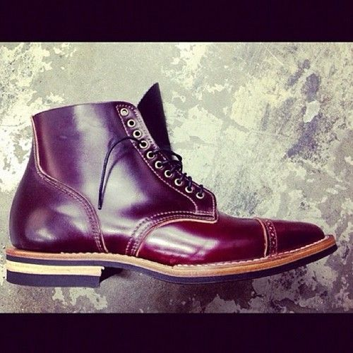 07d9c056996 Viberg 1950 Service boot in color 8 shell cordovan. Exclusively for ...