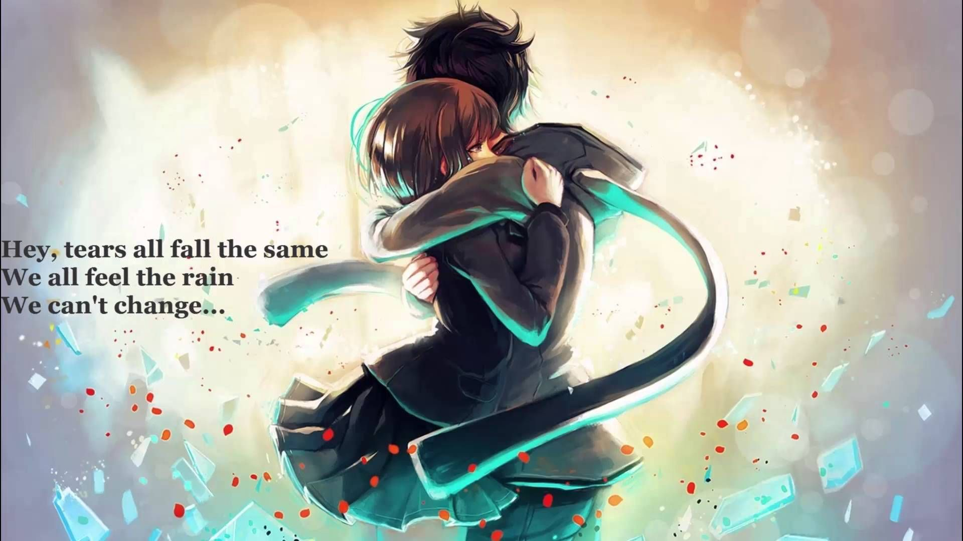 Nightcore Outlaws Of Love Lyrics Anime Hug Romantic Anime Hd Anime Wallpapers