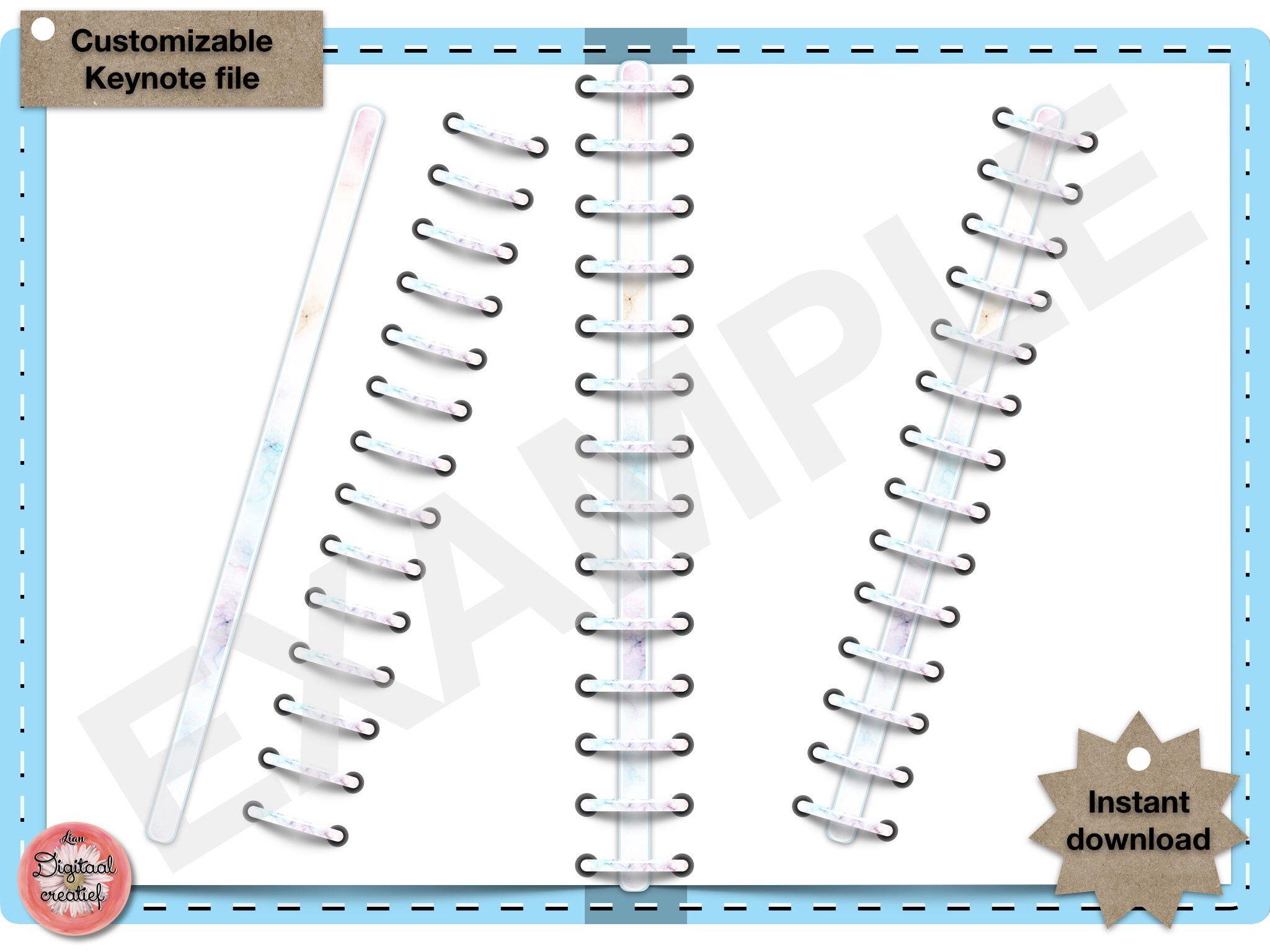 Digital Binder Rings Marble Pastel Digital Keynote File Planner Rings For Digital Planner Or Bulletjournal Digital Planner Planner Bullet Journal