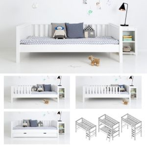 sanders einzelbett kinderbett fanny 90x160cm h he. Black Bedroom Furniture Sets. Home Design Ideas