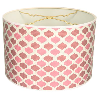 "RoyalDesigns Two-Tone Mediterraneanesque Designer Hard Back 10"" Paper Drum Lamp Shade Color:"