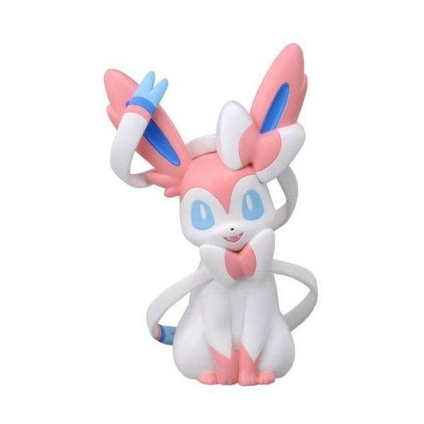 Takara Tomy Pokemon Hand Size Plush Doll Tenohira Sylveon FreeShipping ❤ liked on Polyvore featuring toys and plush