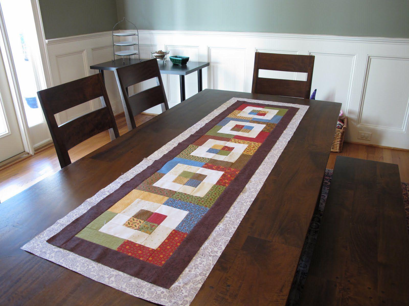 Modern Cozy Table Runner Progress