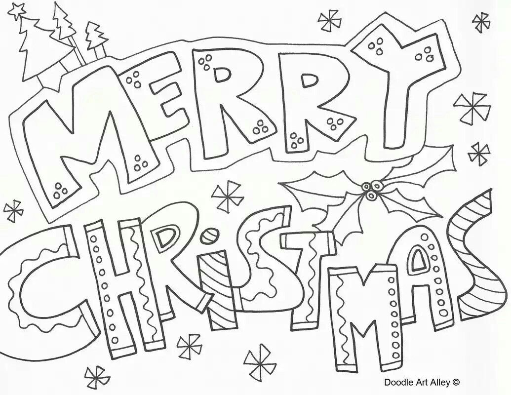 Merry Christmas coloring page (there are several different ones on ...
