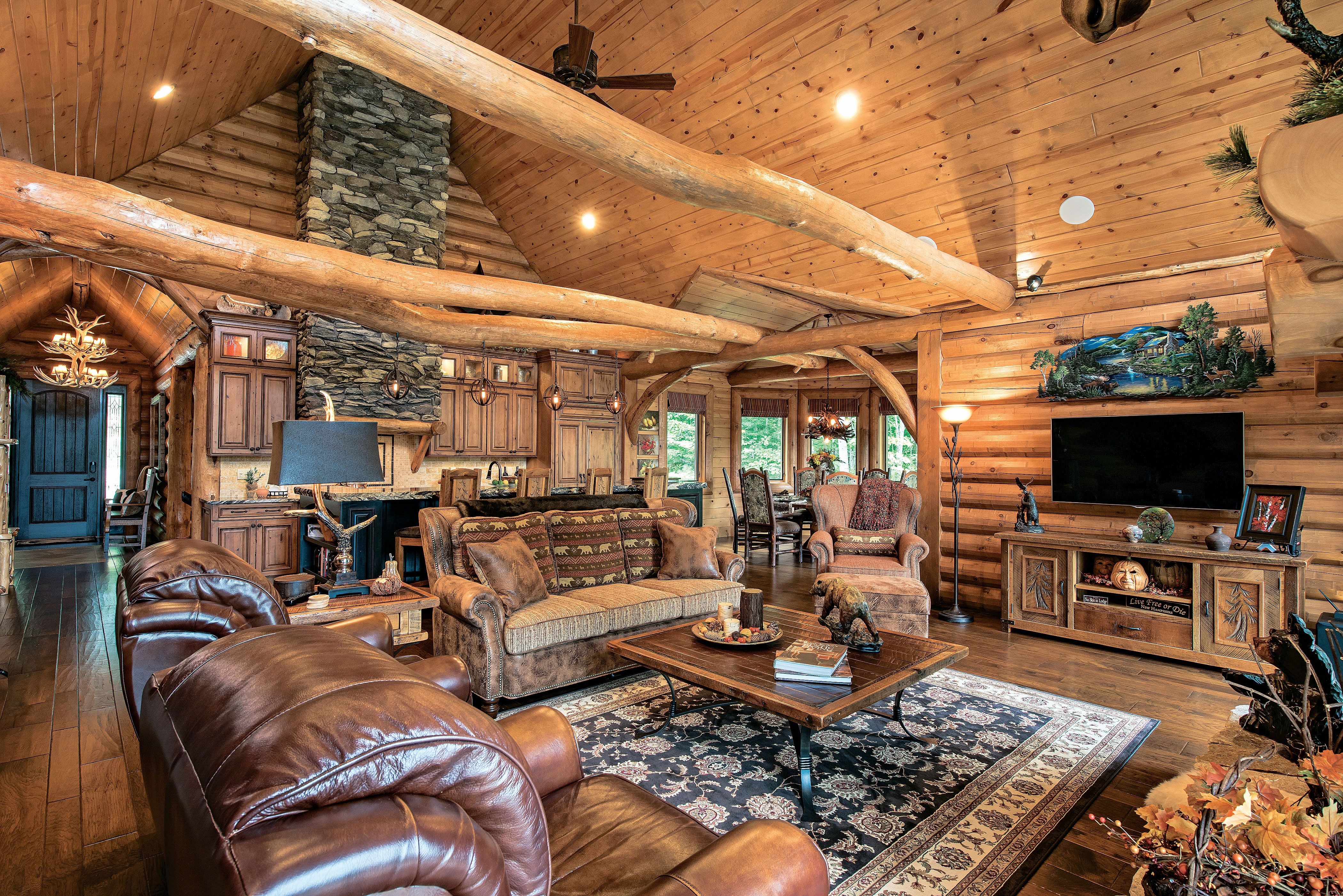 3 Ways To Light A Log Home Rustic Log Cabin Decor Log Cabin Rustic Log Cabin Decor