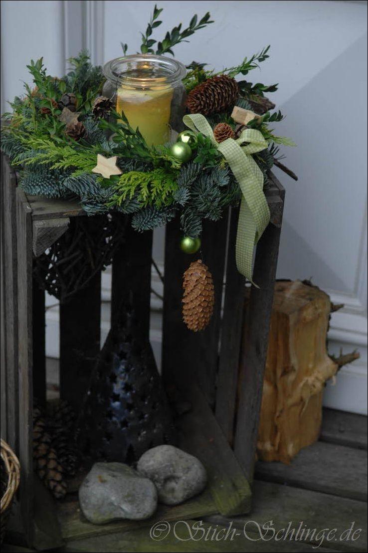 herrlich Weihnachtsdeko Vor Der Haustuer Part - 9: Deko Flur oder vor Haustür u2026   Christmas   Pinteu2026   Weihnactsdeko Draussen  ☃ #