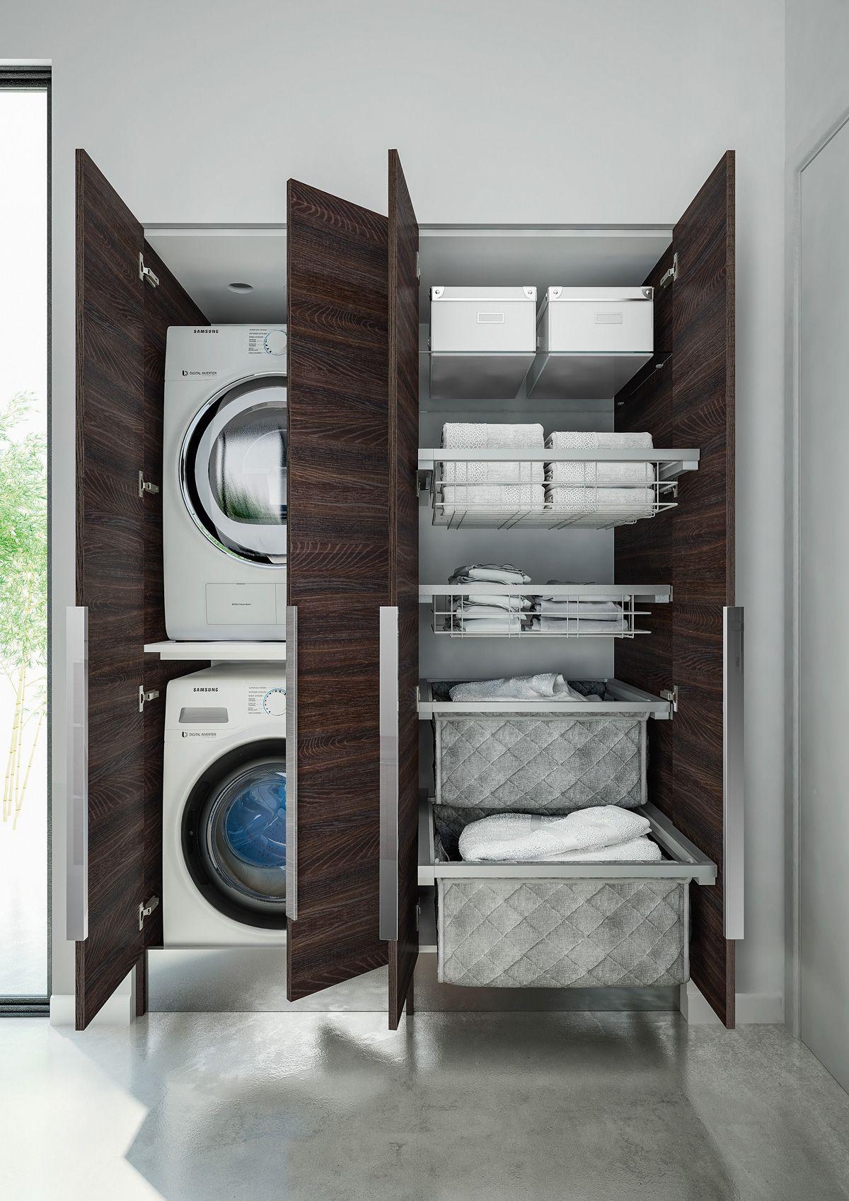 Lavanderia invisibile come progettarla nel bagno di casa - Mobili per lavatrice ...