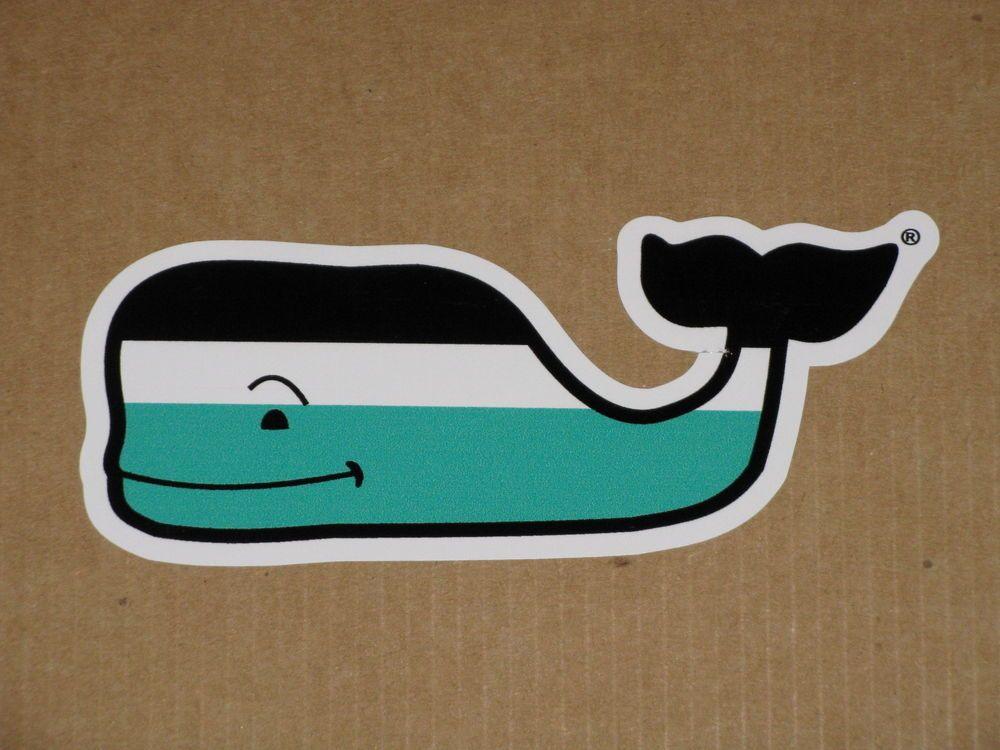 Whale Vineyard Vines Nautical Stripe Vinyl Sticker Decal