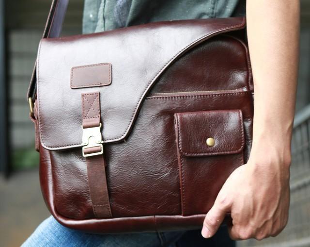 Cool Leather Mens Large Messenger Bags Shoulder Bag for men – iwalletsmen 02b0509f14