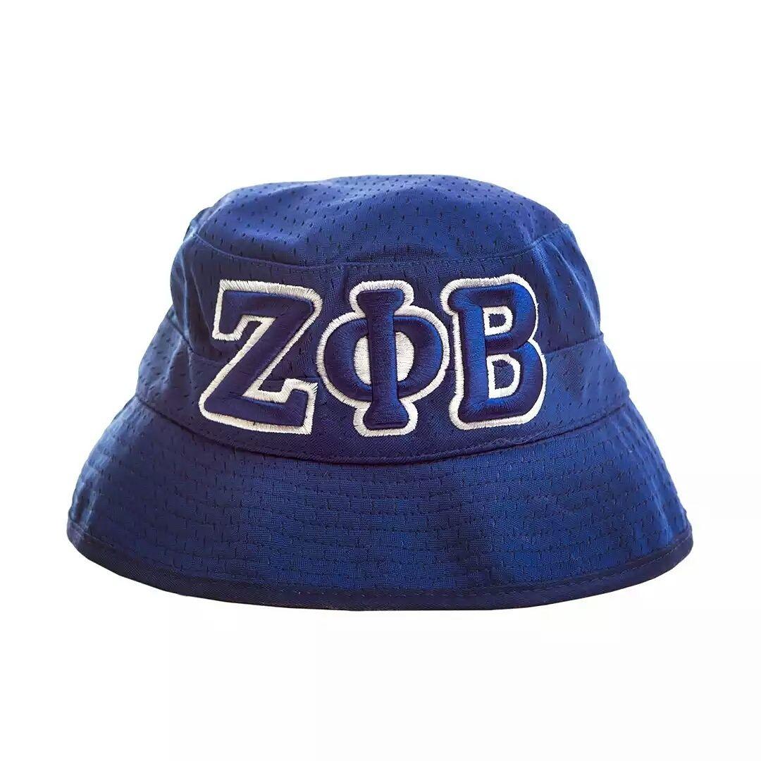 ZETA PHI BETA BLUE BUCKET HAT  fb514157c38