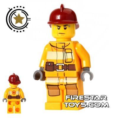 LEGO Minifigure Minifig Fireman Firemen With Accessories Custom City