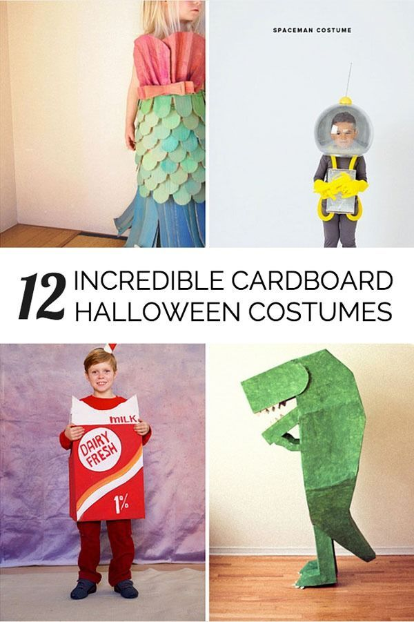 Awesome and creative Halloween cardboard costumes for the kids I - easy homemade halloween decorations for kids