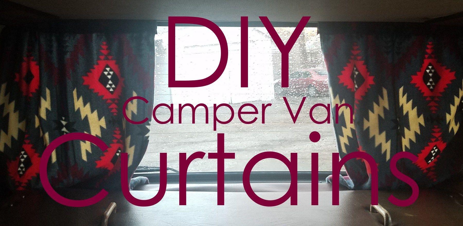 Diy curtains for your camper van kombi with haley van