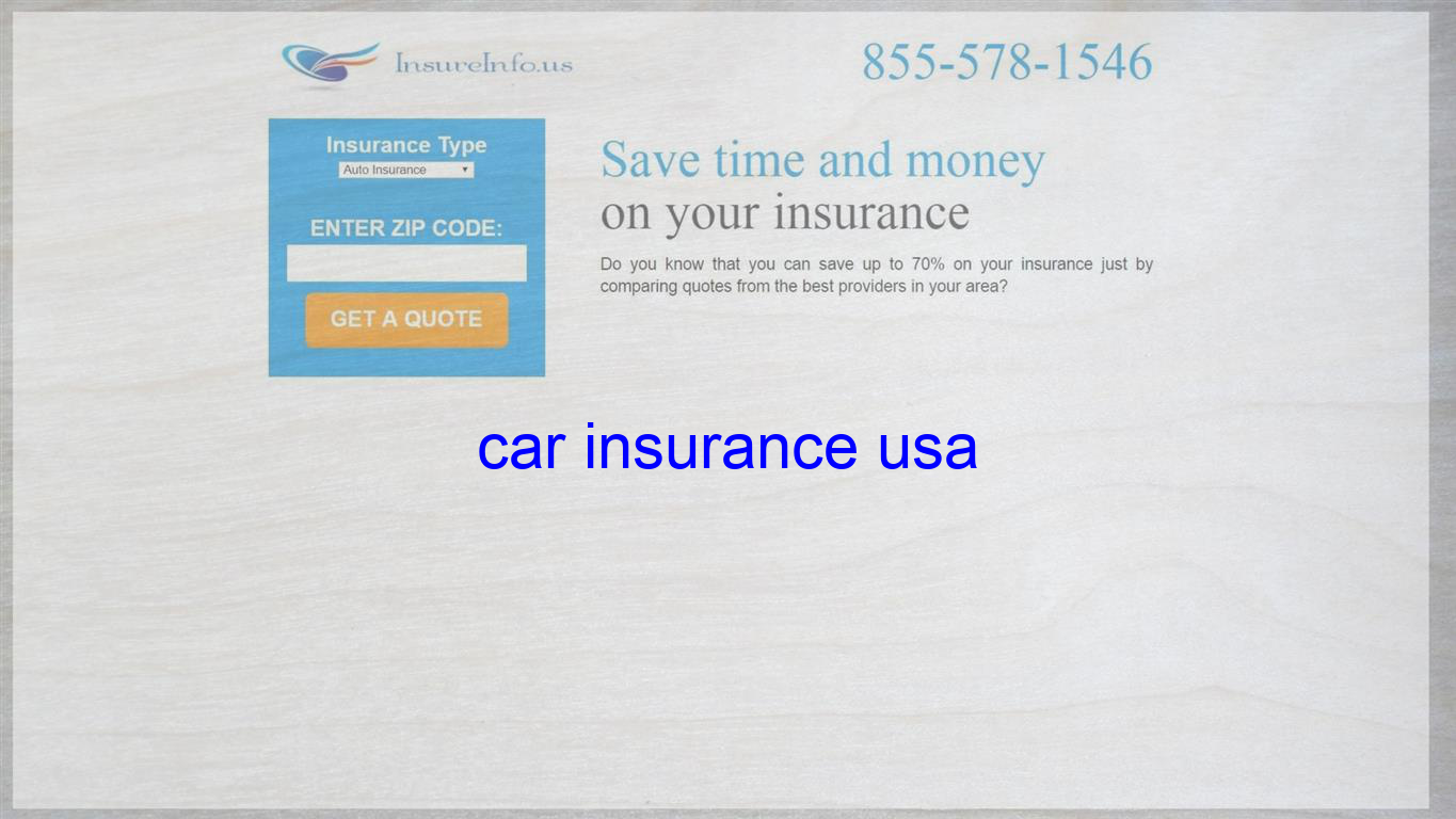 Car Insurance Usa Life Insurance Quotes Home Insurance Quotes