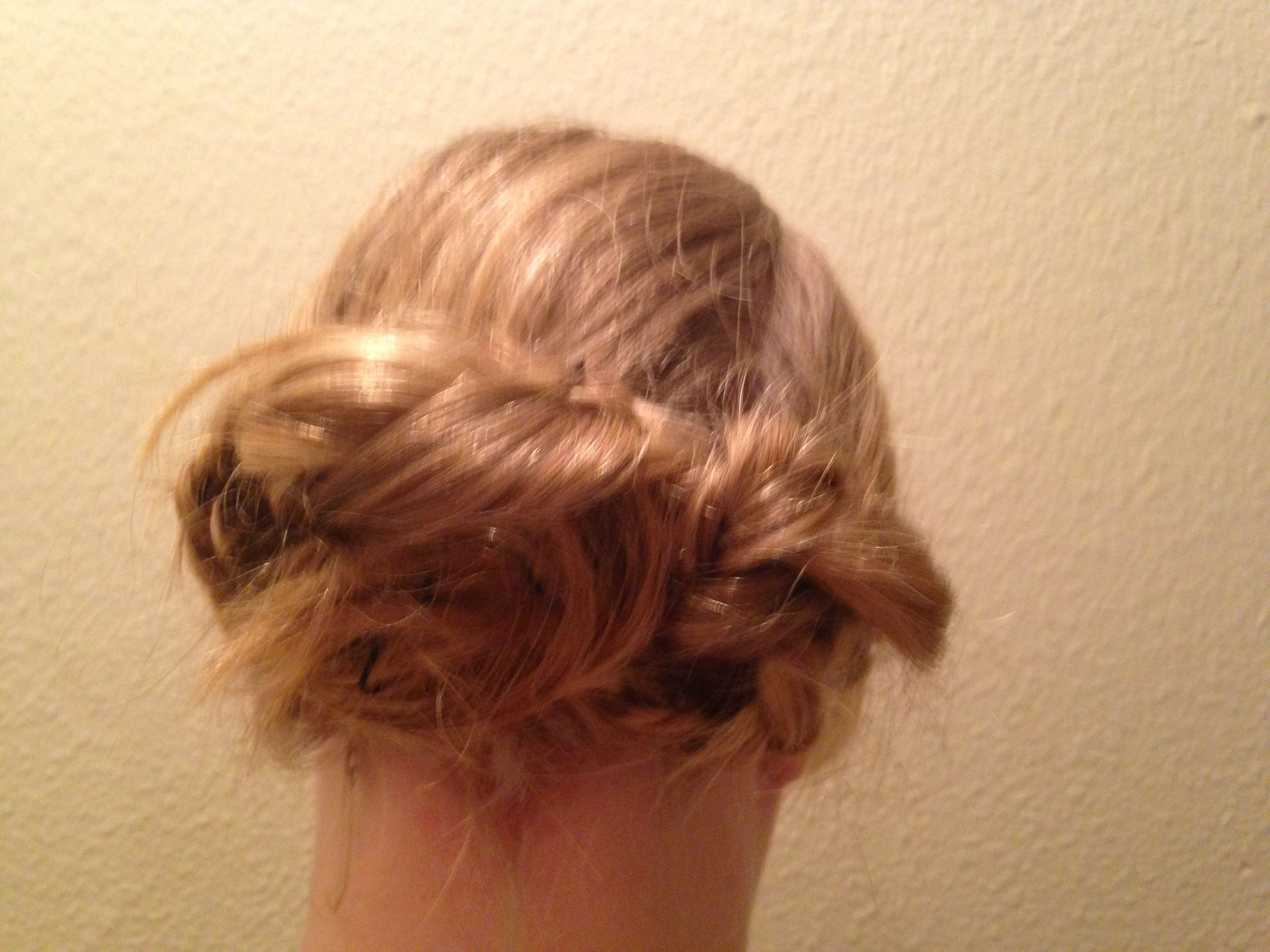 Messy braided up do love it hair pinterest