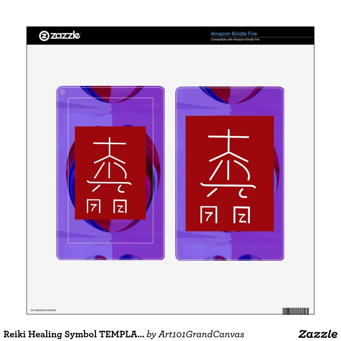 Reiki Healing Symbol Template Replace Background Kindle Fire Skin