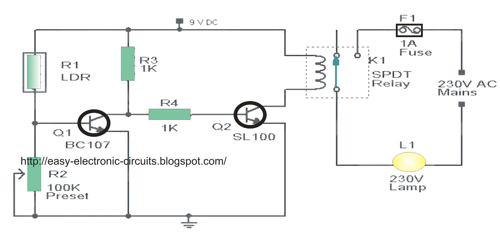 the post explains a simple automatic street light circuit which night here s a circuit schematic of the complete system [ 1600 x 759 Pixel ]