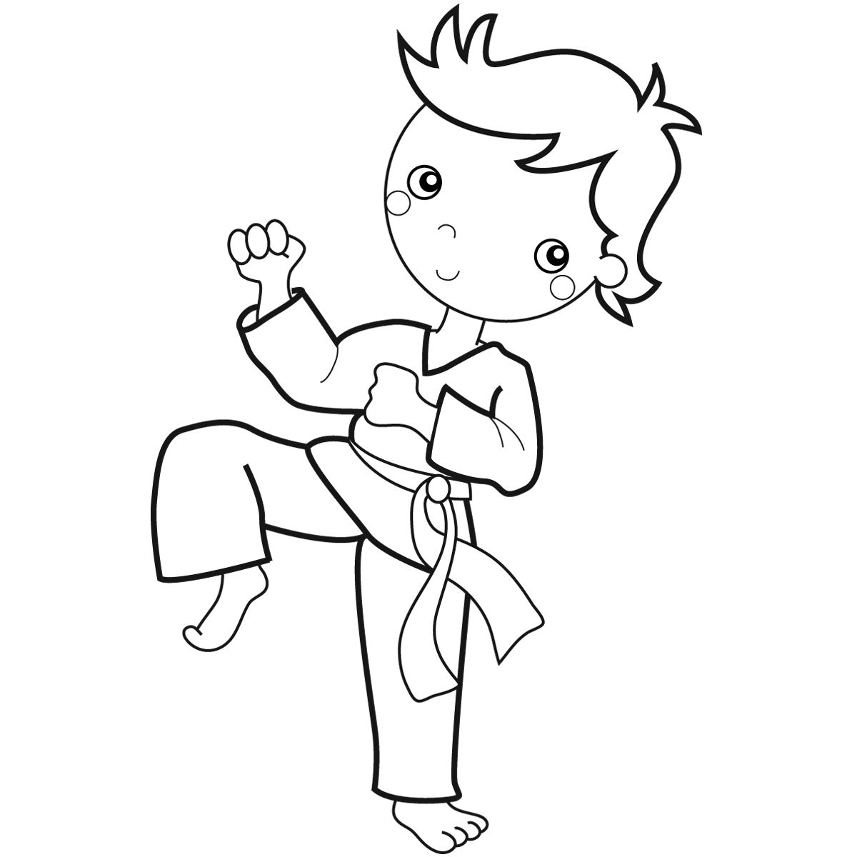 Karate Kid Coloring Pages Coloring Pages For Boys Coloring Pages Sports Coloring Pages